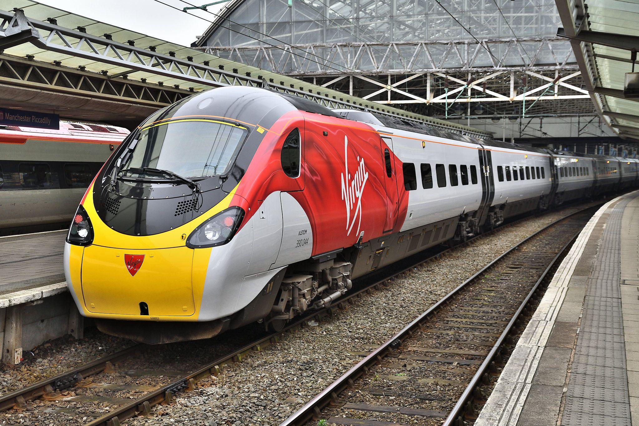 Alstom Class 390 Pendolino 390044 Virgin Lionheart British