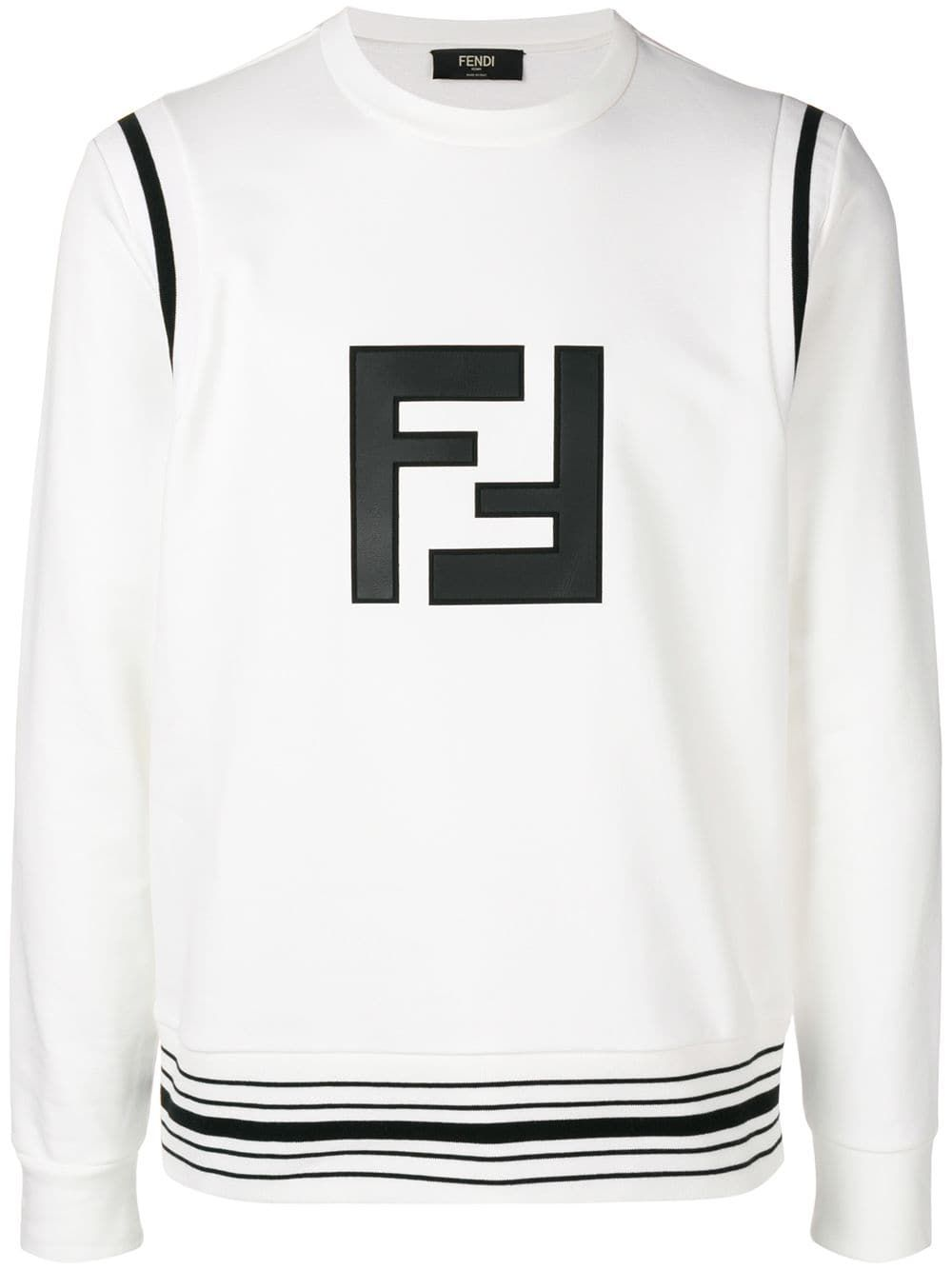 e2045376a0 FENDI FENDI FF LOGO SWEATSHIRT - WHITE.  fendi  cloth