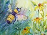 paintings of bees - Google Search