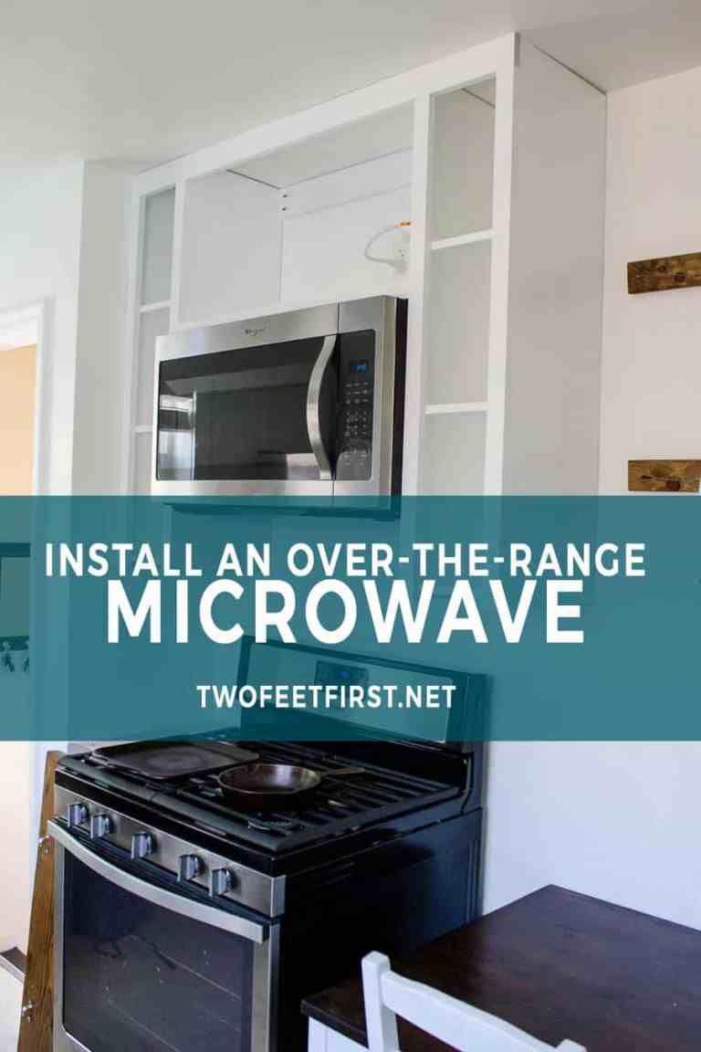 Installing an overtherange microwave range microwave