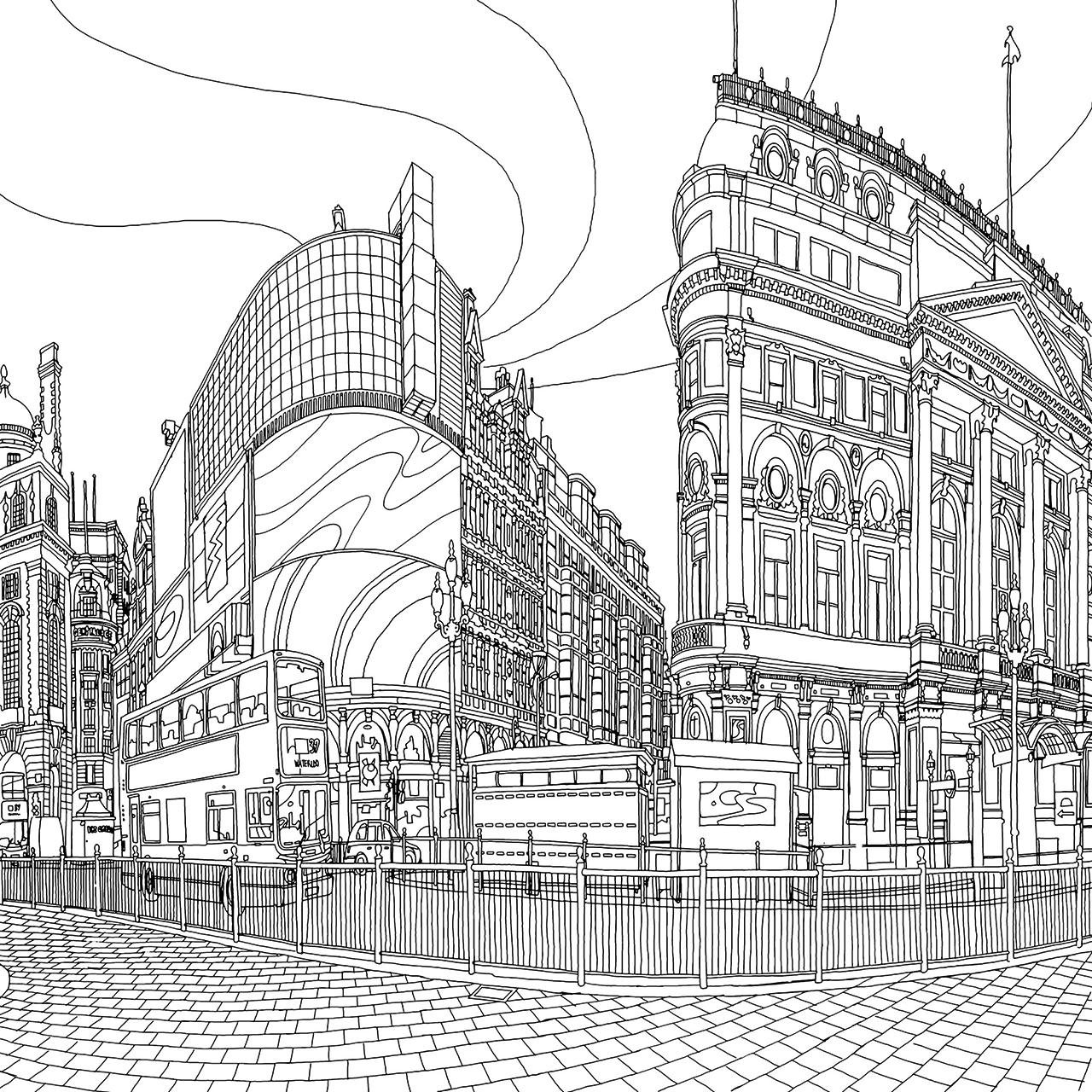 Fantastic Cities Por Steve McDonald Senala Encima De La