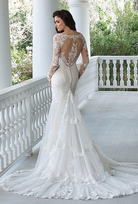 Sincerity Bridal 3936 long sleeve wedding gown - The Blushing Bride ...