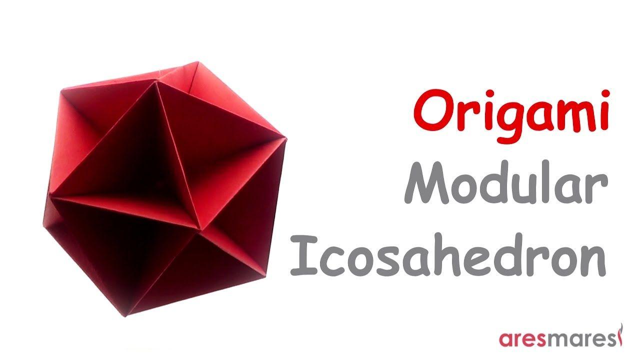 Origami Icosahedron Intermediate Modular Origami Geometric Shapes Geometric Origami Origami And Kirigami