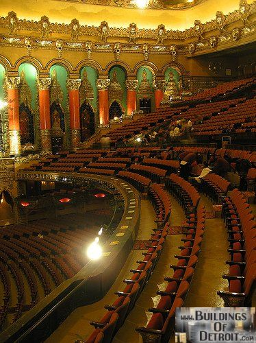 The Fillmore Detroit Formerly The Fox Theater I Use To Sit Up