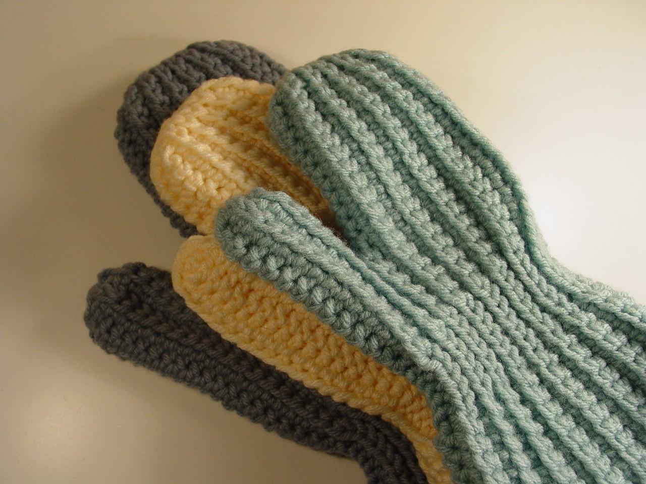 Easy Sideways Crochet Mittens Pattern - pdf | Crochet mittens ...