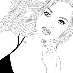 Icons selena gomez without psd tumblr draw pinterest - Coloriage selena gomez ...