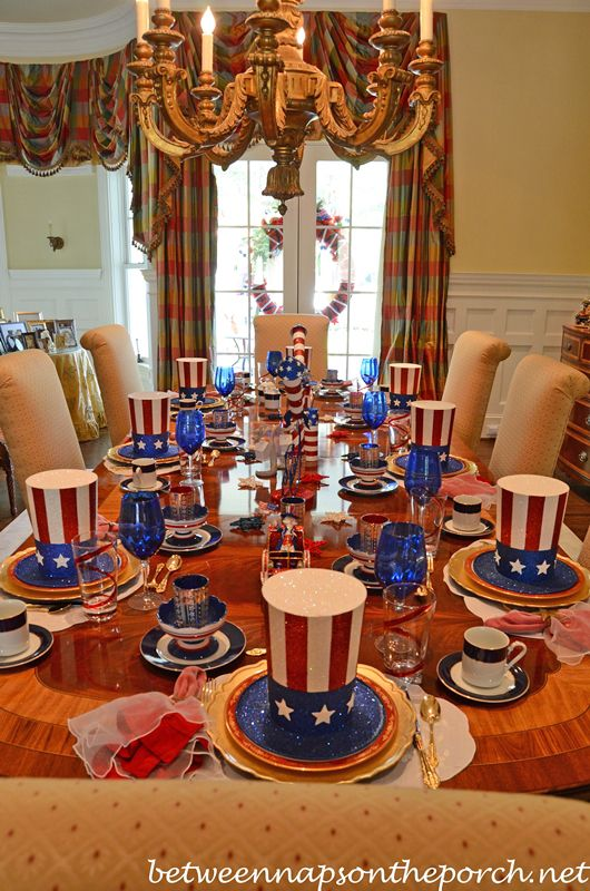 Table Setting Ideas for a 4th of July Party | Table settings ...