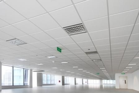 Rockfon Suspended Ceiling In 2019 Acoustic Ceiling Tiles