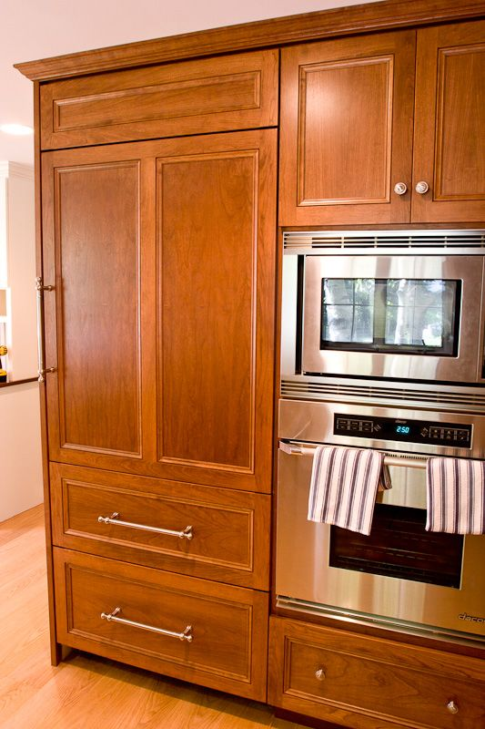 Refrigerator With Cabinet Doors Built In Kitchen Glastonbury Ct
