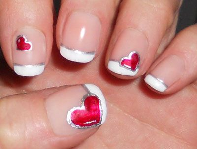 For French Styles Of Valentine Nails S Always Need A Skilled Person To Draw Them As These May Contain Special Drawings Can T Drawn By