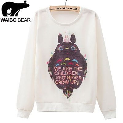 Aliexpress.com : Buy Best Selling Women Sweatshirts Cute Totoro Printed Hoodies Harajuku Cartoon Hoodies Casual Thin Pullovers For Female Sport Suits from Reliable sweatshirt sale suppliers on Vicky world's top garment co., LTD  | Alibaba Group