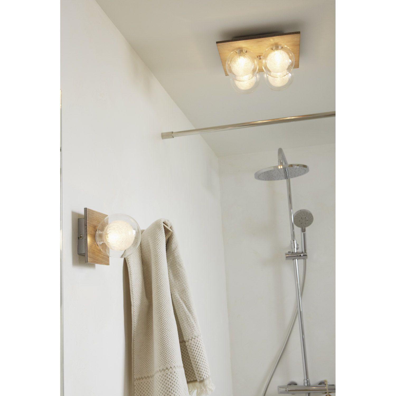 applique venus halog ne co 1 x 28 w g9 bois clair leroy merlin salle de bains pinterest. Black Bedroom Furniture Sets. Home Design Ideas