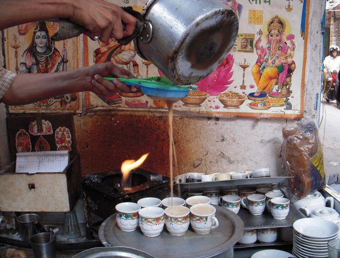 Making chai, India