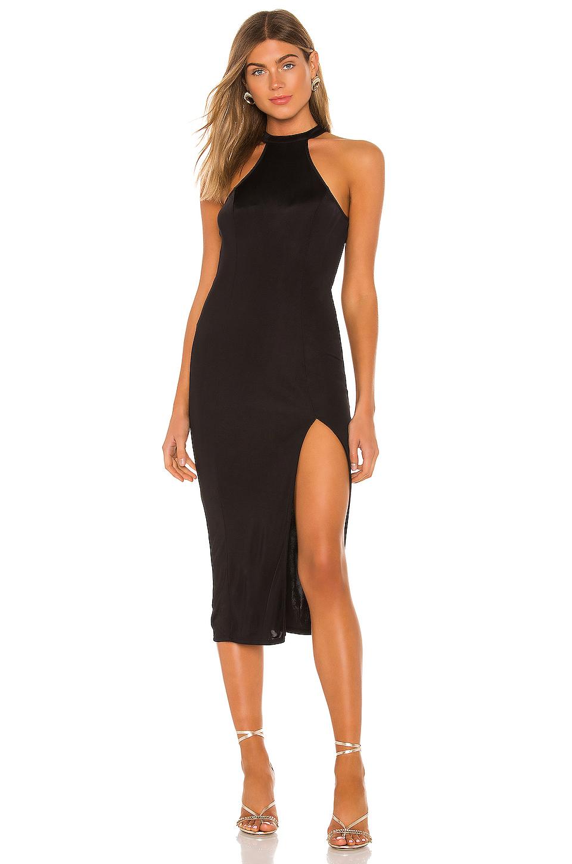 Michael Costello X Revolve Lucy Midi Dress In Black Revolve Dresses Midi Dress Michael Costello Shop our edit of designer midi dresses. pinterest