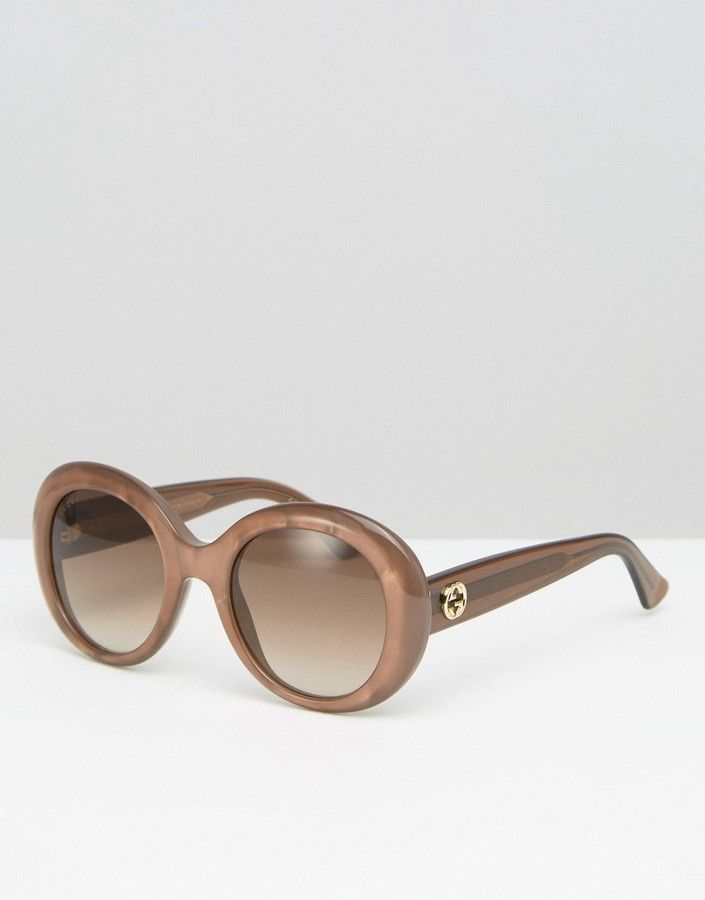 04e3e12dad370 Gucci Chunky Frame Cat Eye Sunglasses