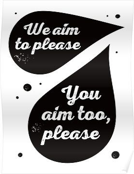 Bathroom Signs We Aim To Please we aim to please' funny bathroom sign | framed print | funny