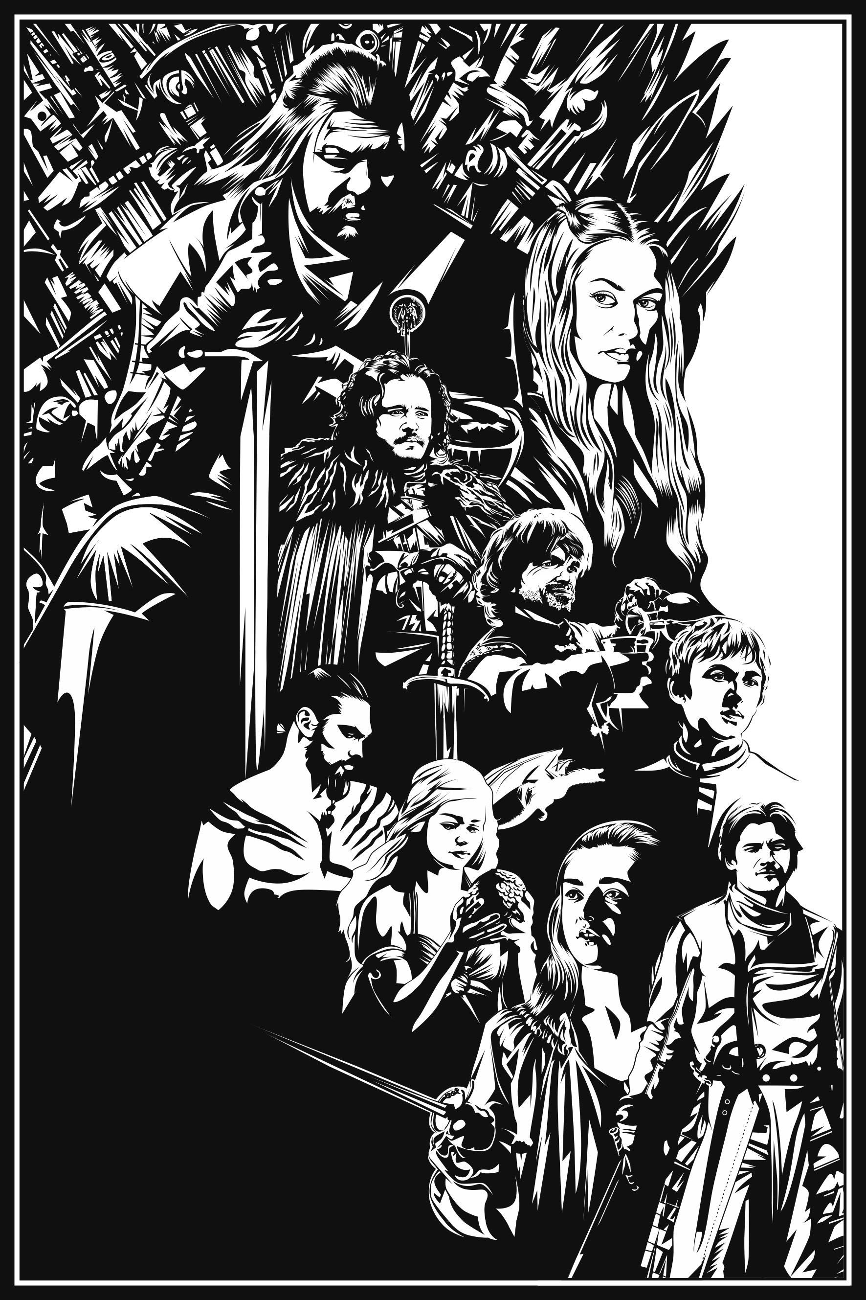 Design by firmanovoselic Black and White vector
