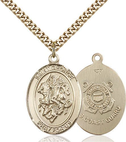 St. George Pendant (Gold Filled) by Bliss   Catholic Shopping .com