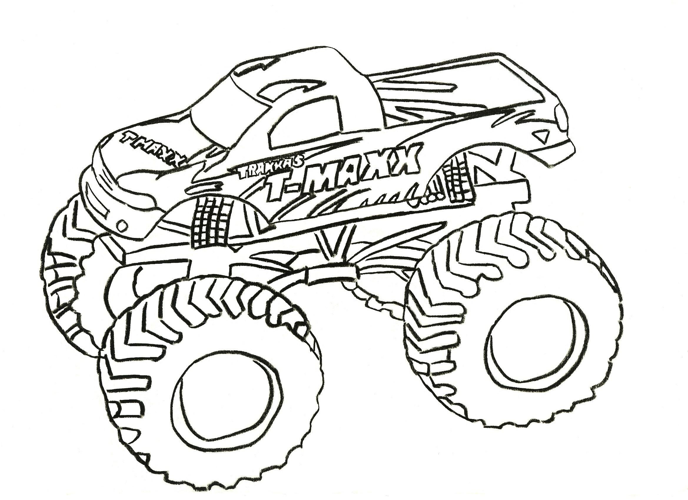 Free Printable Monster Truck Coloring Pages For Kids With Images