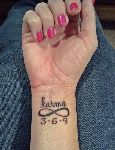 My First Tattoo I Believe In Karma The Tatto Tatuajes