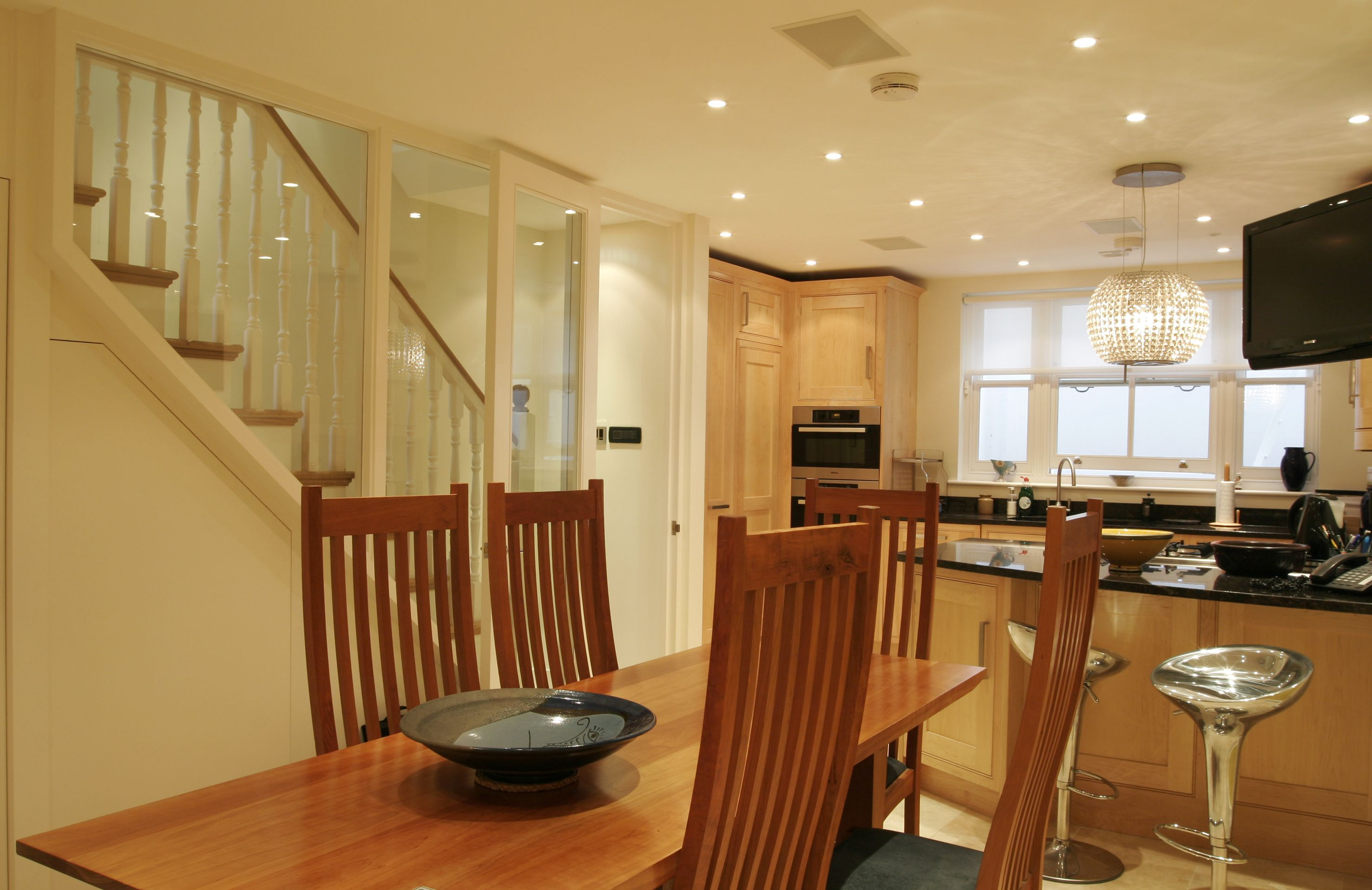 Kitchen, Dining Room And Wine Cellar Constructed By London Basement