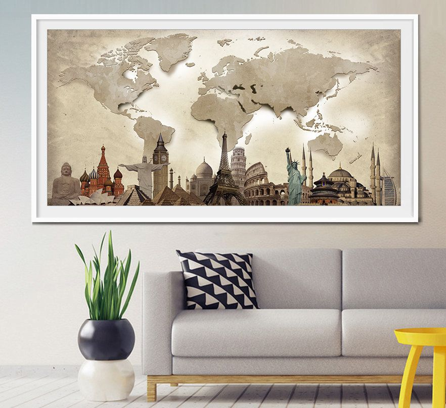 World travel map world map poster world map wall art extra large world travel map world map poster world map wall art extra large wall art large world map large wall decor world map print art l23 gumiabroncs Gallery