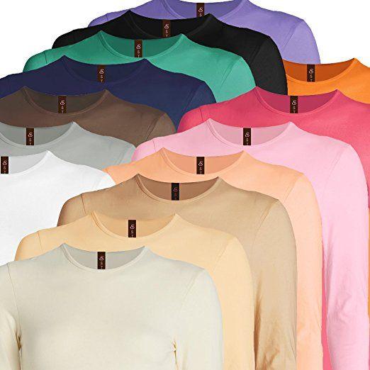 7f4b182b249 Amazon.com: Esteez Long Sleeve Layering T-Shirt for Girls Snug / Relaxed Fit:  Clothing