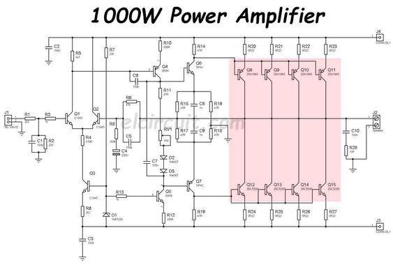 1000W Power Amplifier 2SC5200 2SA1943 | เทคโนโลยี และ ...