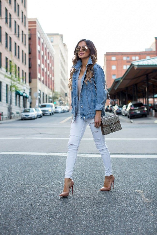511eaa92d417 Street Style  Jean Jacket. - Mia Mia Mine. Topshop Jean Jacket ...