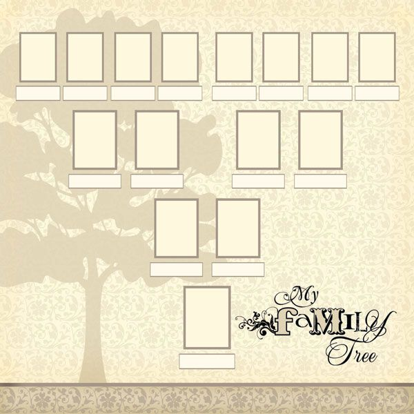 Family Tree Template | Genealogy & Family Heritage | Pinterest