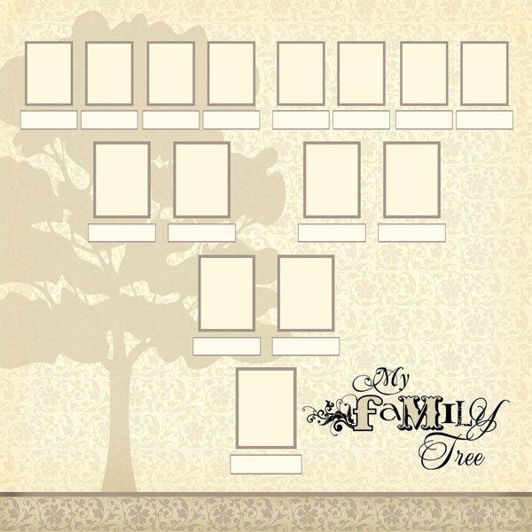 scrapbook customs family history my family tree 12 x 12