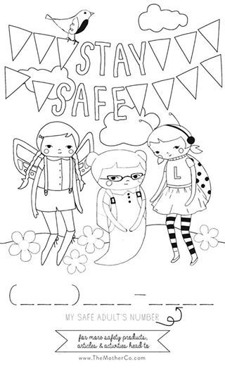 Check Out Our Safekids Coloring Page Parents Can Share With Their