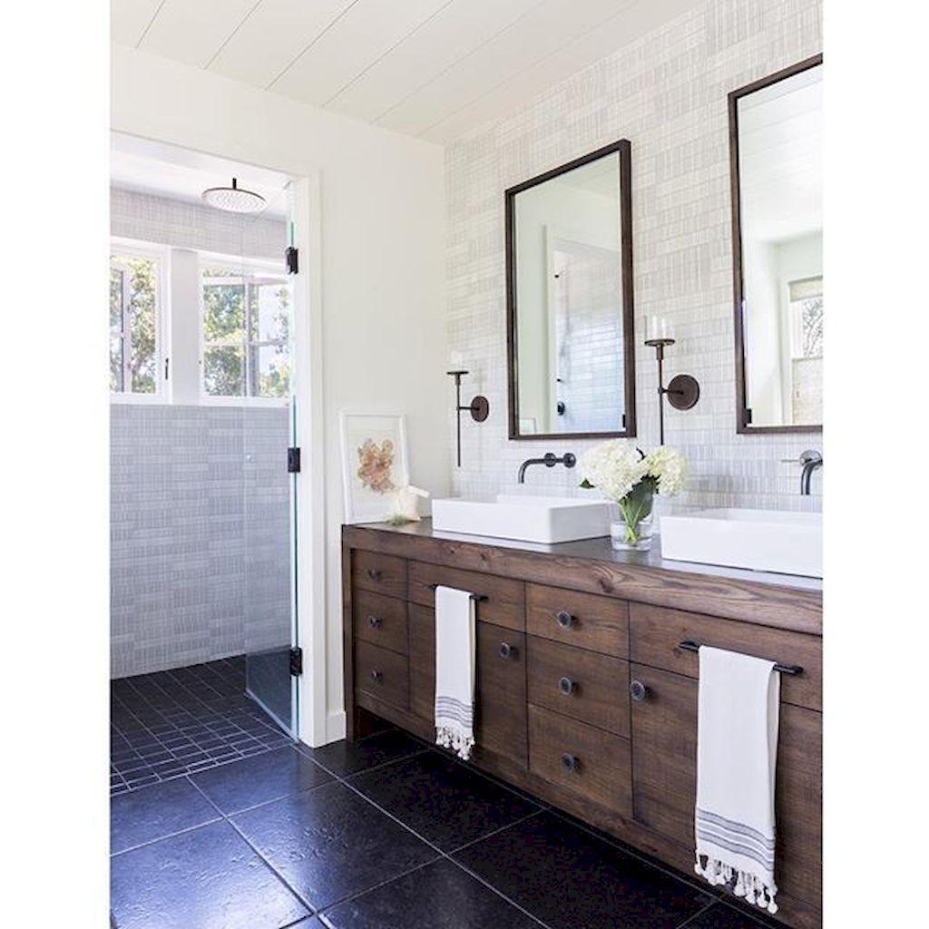 90 Pretty Farmhouse Bathroom Vanity Decor Ideas Carlotta News Farmhouse Bathroom Vanity Farmhouse Master Bathroom Bathroom Vanity Remodel [ 1024 x 1024 Pixel ]