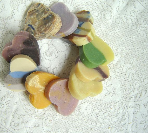 25 Heart Shaped Soaps  Bridal Shower Favors by SoapForYourSoul, $31.50
