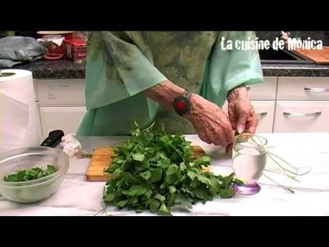 Comment conserver le persil astuce de mamy monica youtube recettes pinterest food - Comment congeler le persil ...