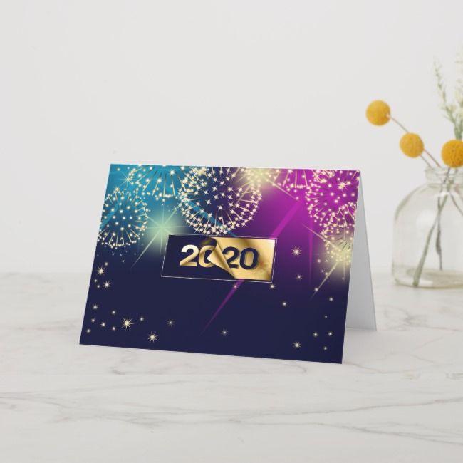 Happy New Year 2020. Fireworks Holiday Card | Zazzle.com