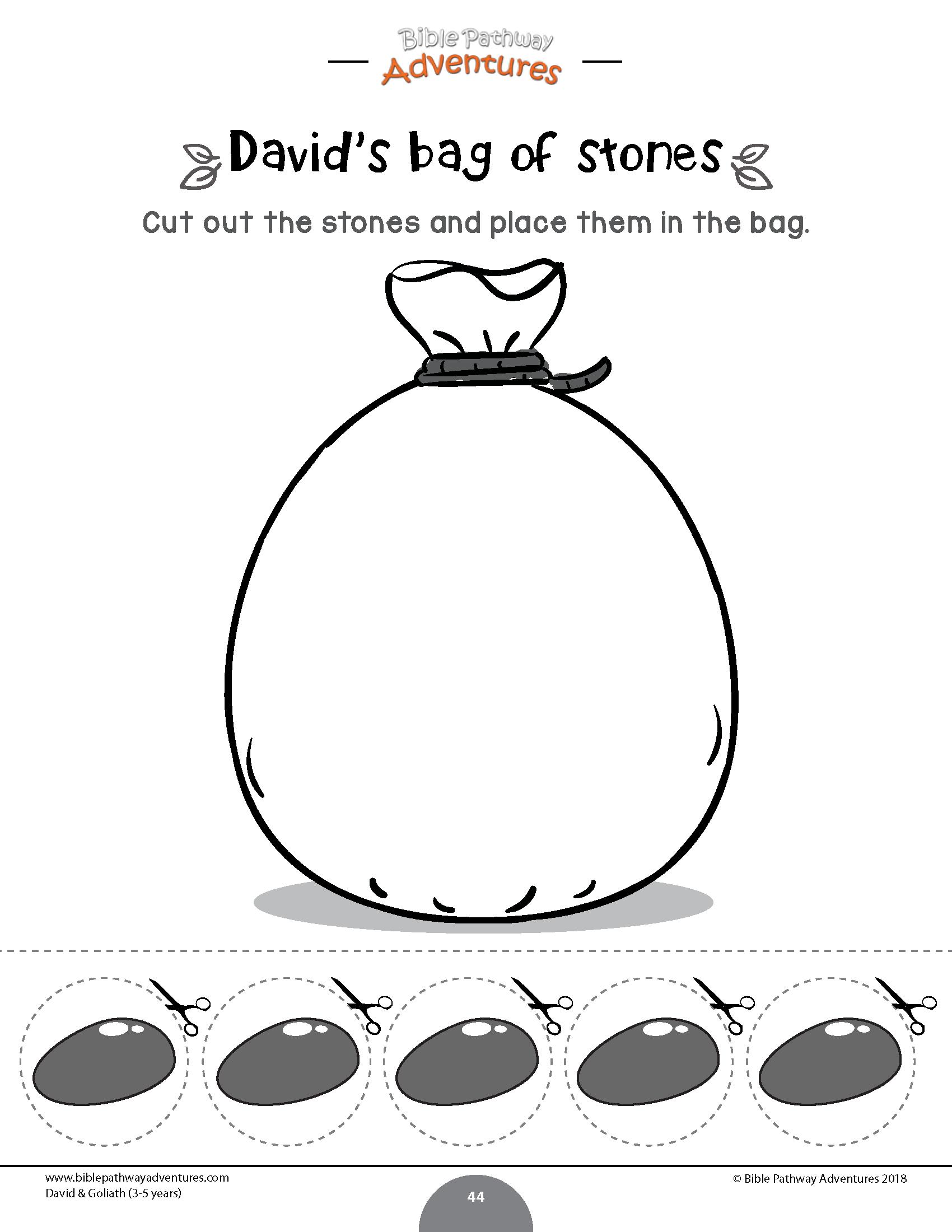 David Amp Goliath Bag Of Stones Worksheet