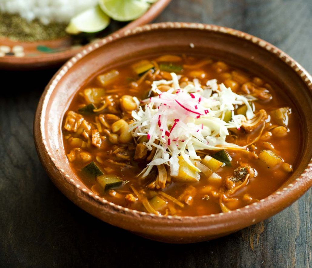 This jackfruit vegan pozole is a hearty, spicy, and