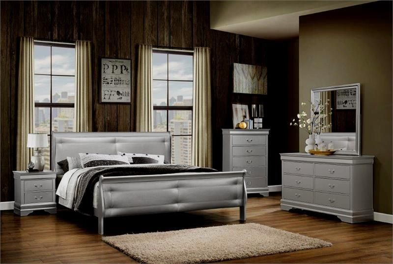 Modest Silver Bedroom Set Decoration