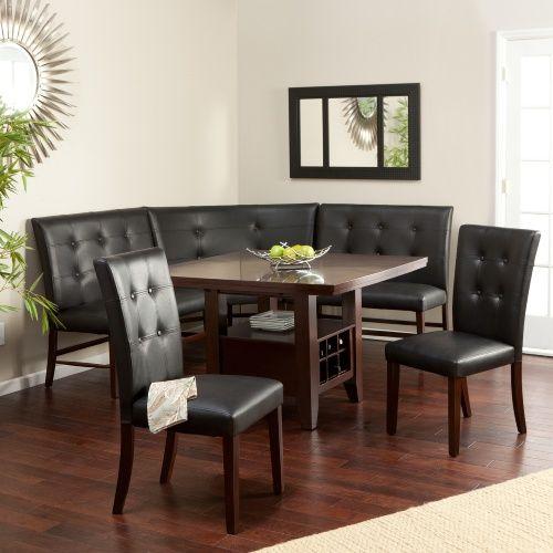 Layton Espresso 6 Piece Breakfast Nook Set Dining Table Sets At Hayneedle