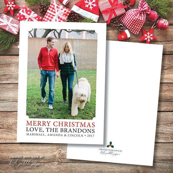 Family Christmas Card Printable, Photo Christmas Card, Custom ...