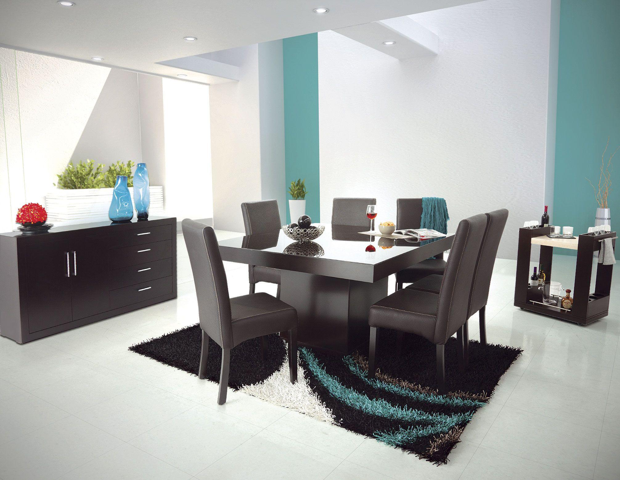 Comedor cassano chocolate ligth de placencia muebles - Comedores modernos ...