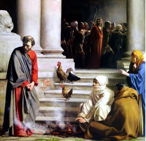 Image result for peter in the court of the high priest