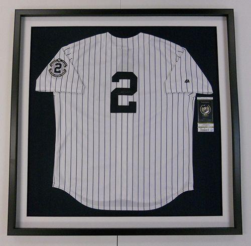 Baseball jersey frame jeter yankees   Framing @ Central Galleries ...