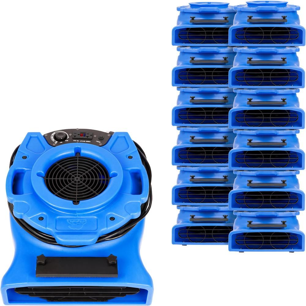 B Air 1 4 Hp Low Profile Air Mover For Water Damage Restoration Carpet Dryer Floor Blower Fan In Blue 30 Pack How To Clean Carpet Restoration Water Lighting