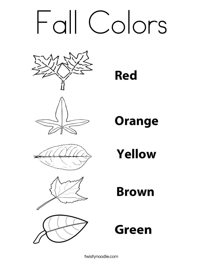autumn coloring pages fall colors coloring page twisty noodle - Leaf Coloring Pages Preschool