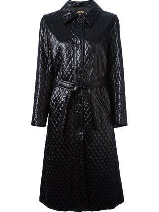 Céline Vintage Quilted Overcoat - A.n.g.e.l.o Vintage - Farfetch.com