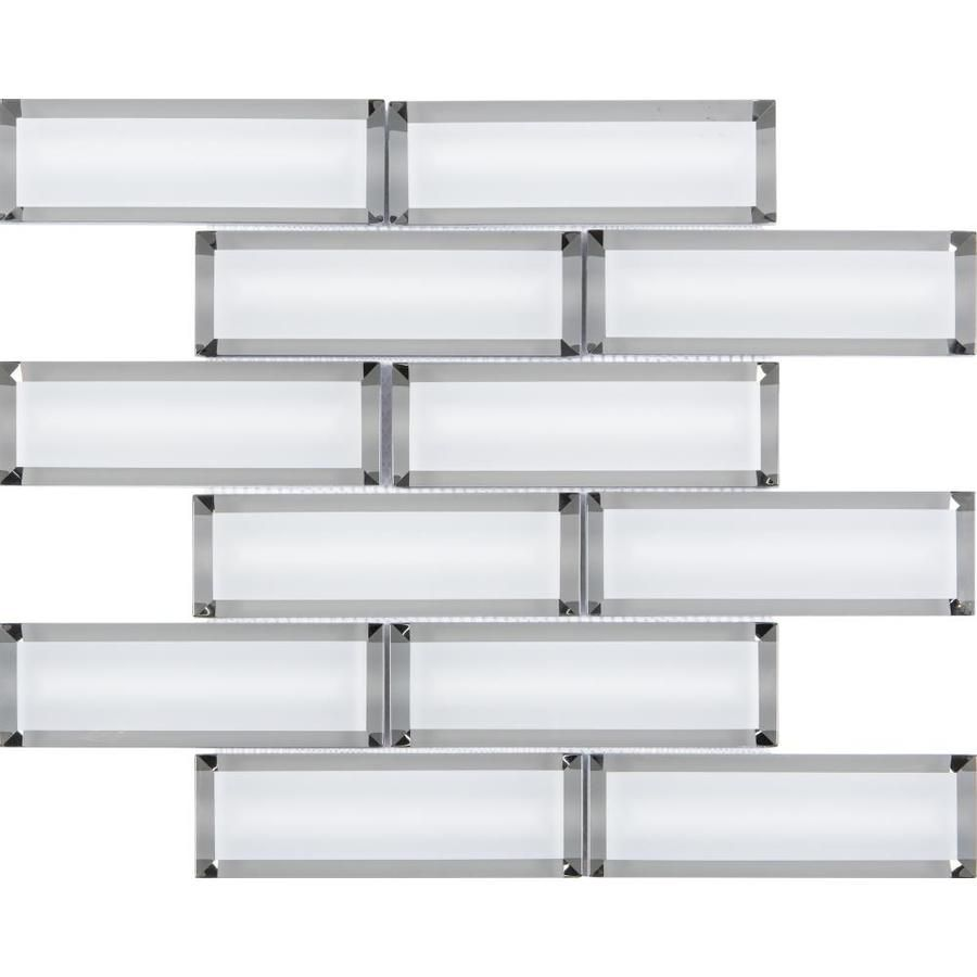 natural glass brick wall tile lowes