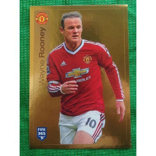 Football Soccer Sticker Panini FIFA 365 #329 Manchester United Gold