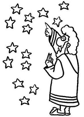 bible abraham stars coloring pages - photo#25
